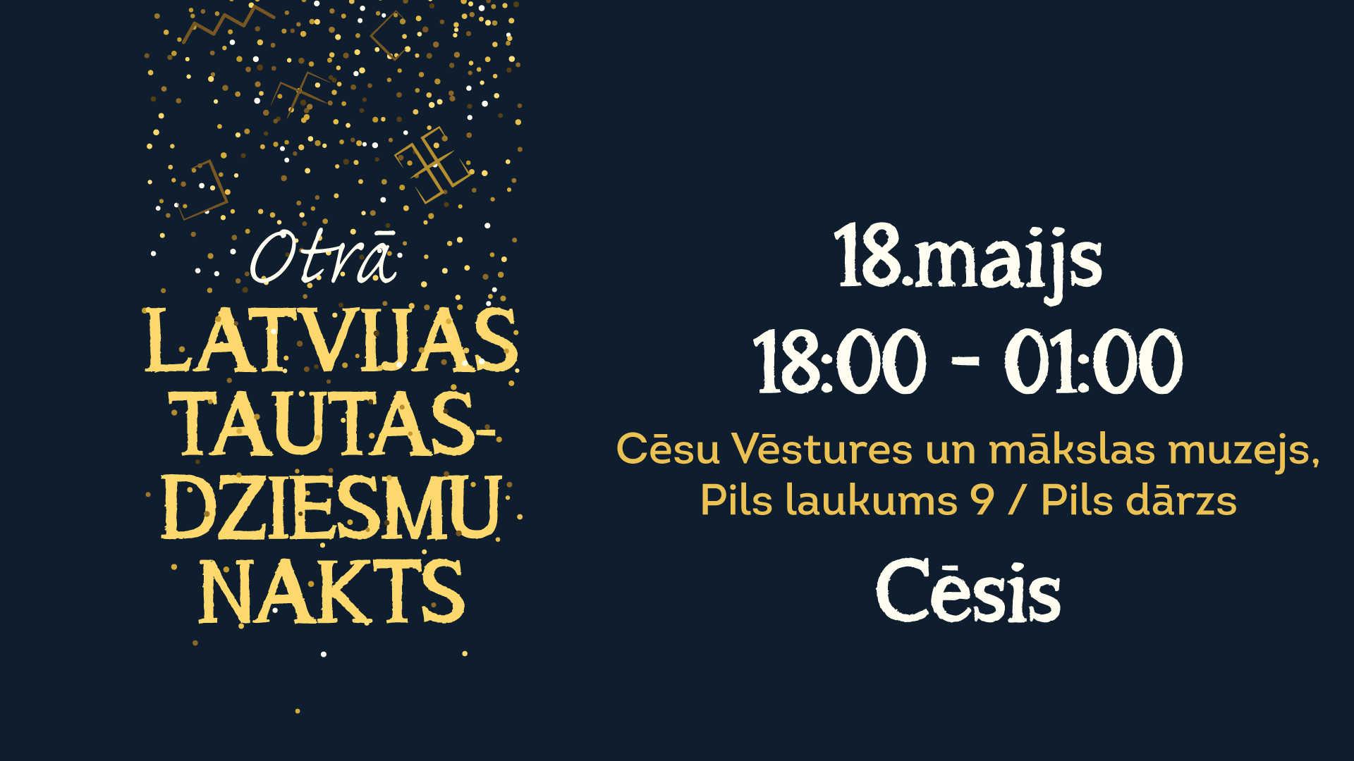 Otrā Latvijas Tautasdziesmu nakts